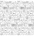 Seamless hand drawn pattern with festival elements vector image vector image