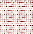 Seamless pattern design with red heart color vector image vector image