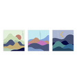 set with colorful abstract background vector image vector image