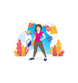 shopping concept with characters vector image vector image