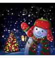 snowman tree vector image
