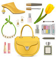 spring female accessories set 3 vector image vector image
