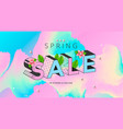 spring sale banner with pastel colors and flower vector image