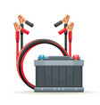 start battery car and jump cables vector image vector image
