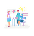teamwork creative business idea character concept vector image vector image