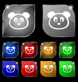 Teddy Bear icon sign Set of ten colorful buttons vector image