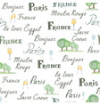 travel france tile background paris city seamless vector image