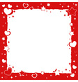 Valentine love romantic frame with hearts and star