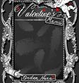 Vintage Blackboard for Valentine s Menu vector image vector image