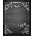vintage frame on chalkboard vector image vector image