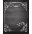 Vintage frame on the chalkboard vector image