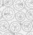 white cogwheel seamless pattern vector image vector image