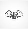willpower icon on white vector image