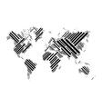 World map of black blocks vector image