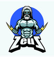 zeus with lightning bolt vector image