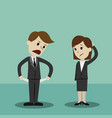 businessman and businesswomen standing and showing vector image