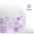 abstract business cube concept vector image