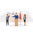 a male politician making speech vector image vector image
