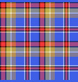 blue madras fabric texture square pixel seamless vector image vector image
