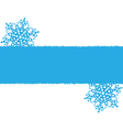 Blue snowflakes on white vector image
