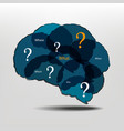 Brain and question marks - Questions vector image vector image