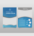 business brochure flyer design layout template in vector image