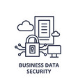business data security line icon concept business vector image vector image