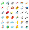 card reader icons set isometric style vector image vector image