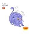 Cat with a bowl vector image vector image