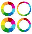 circular arrows presentation template vector image vector image