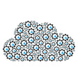 cloud shape of service tools icons vector image
