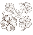 Clover leaves adult coloring page 5 seamless vector image vector image