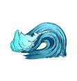 color breaking atlantic ocean marine wave storm vector image vector image
