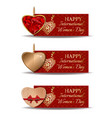 colorful festive banners set for international vector image vector image