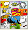 comic book page divided by lines with speech vector image vector image