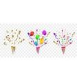 confetti festive vector image