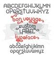 Custom retro typeface Bon Voyage vector image vector image