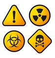 Danger Yellow Sign Icons Set vector image