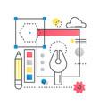 design creative idea concept concept vector image vector image