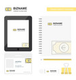 euro business logo tab app diary pvc employee vector image vector image