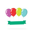 festive surprise balloons banner template for copy vector image