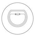 fish in round aquarium black icon in circle vector image vector image