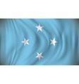 Flag of Micronesia vector image vector image