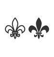 fleur de lis icon design template isolated vector image