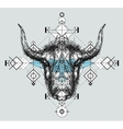 Front view of yak head doodle vector image vector image