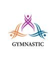 gymnastic logo vector image