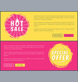 hot sale special offer card vector image