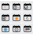icons calendar vector image vector image
