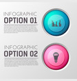 infographic options creative background vector image