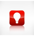 Light bulb icon Application button vector image vector image